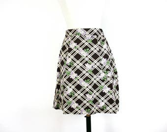 Checked 100% Cotton skirt with pockets SALE *Ready to ship*