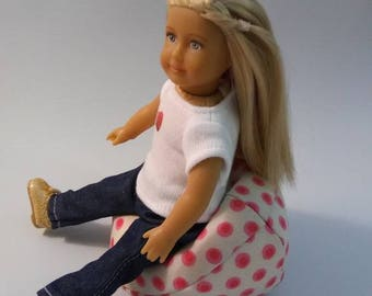 Bean Bag Chair Fits Mini American Girl Doll For Dolls