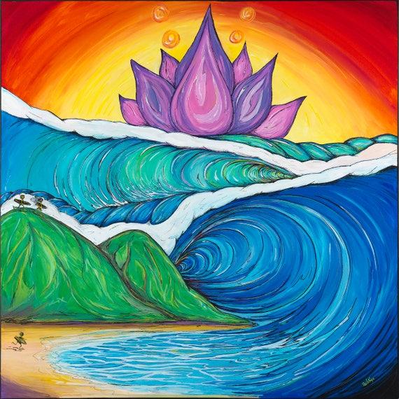 Tulin, Surf Art , Giclee Canvas Print