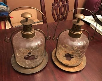 Vintage Big Outdoor Candle Holders