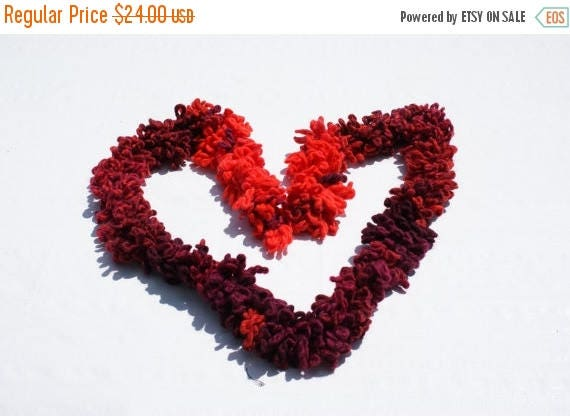 Christmas in July Sale Red Knit Scarf – Crochet scarf - Katia Aloha Multicolored Scarf Orange Purple scarf  Christmas Gift – Gift for her –