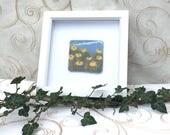 Handmade Felt Yellow Flowers Scene Birthday Fathers Day Holiday Thank you Wedding Gift for Men Women