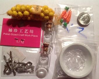 Miniature kitchen accessories  for Dollhouse