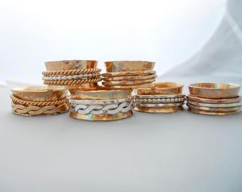 Fidget Spinner Ring Gold Filled