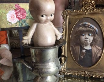 It Won't Hold Ice But Maybe A Doll Mini Loving Cup Tarnished Bucket