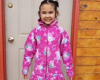 Gorgeous Choose your color Zippered Warm Fleece Yup'ik Kuspuk Made to Order Child Sizes