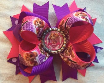 Large Skye Paw Patrol Hair Bow