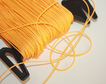 1.5 mm TWISTED YELLOW Cord = 1 Spool = 110 Yards = 100 Meters of Elegant Polypropylene Rope - Great for Macrame, Sewing,Crocheting, Knitting
