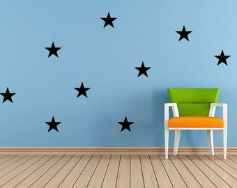 20 x Vinyl Star stickers. Cardmaking, Scrapbooking, crafting, playroom, Bedroom, Nursery. Mirror, Window, Wall Art Stickers, mural, Decal