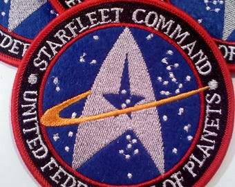 Star Trek STARFLEET COMMAND Iron on Patch