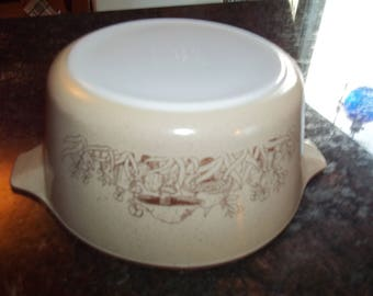 Forest Fancies, Pyrex #474-B, Vintage, Casserole Dish, Baking Dish, Bowl