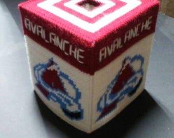 Colorado Avalanche Plastic Canvas Tissue Box Cover