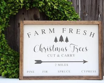 Christmas Tree Farm Wood Sign, Tree Farm Sign, Christmas wood sign, Painted wood sign, Holiday sign, Farmhouse decor, Christmas Decor