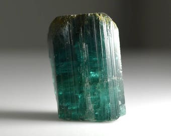 Indicolite Tourmaline Natural Crystal With Termination 165.37 carats