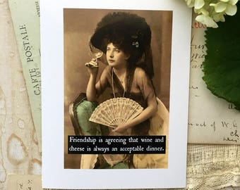 Blank Greeting Card - #3 - Friendship is Agreeing....