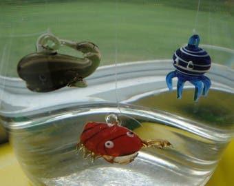 Floating Glass Figurine Three Pack