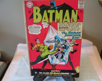 Vintage DC comic Book Number 174, 1965. Batman The Human Punching Bag, Comic Book Collector