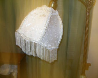 New Cream Brocade Lamp Shade for Petite Bridge Lamp