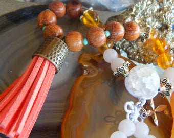 Sunshine is Happiness~Mala Bead Bracelet