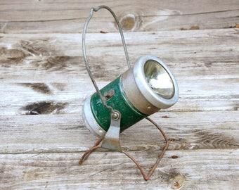 Railroad Lantern, Industrial Spotlight, Vintage Flashlight, Working Condition, Rustic Cabin Decor, Man Cave Light