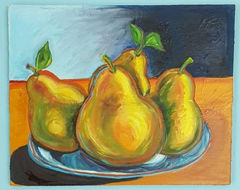 Pears in Bowl 003 20x24