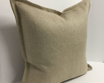 Linen Flange Decorative Pillow Cover in Heavyweight Fabric
