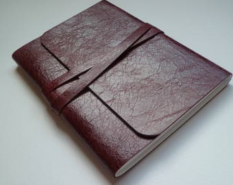 Leather Sketchbook Leather Journal Leather Notebook. Travel Journal Faded Aged Burgundy Leather.