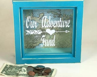 Our Adventure Fund change collection shadow box Tahiti Blue