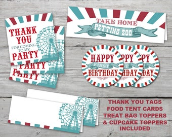 County Fair Party Kit, County Fair Party Decor, County Fair Birthday, PRINTABLE, County Fair decorations, party pack