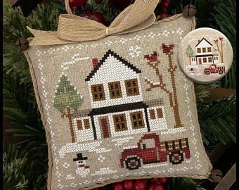 NEW! LITTLE HOUSE NEEDLEWoRKS Farmhouse Christmas Grandpa's Truck #3 Horsin' Around #2 Stitch-A-Long SaL cross stitch patterns or Kit
