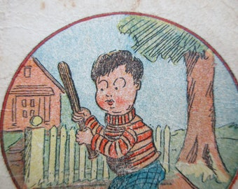 Antique Playing Card - Old Maid, Bill Homer, children, game