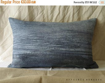 "ON SALE Sea inspired Linen throw Pillowcase. 14""x 22"" Blue.. Brightness of blue  /  FRAGMENTS. Coastal home decor"