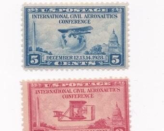 Mint 1928 Civil Aeronautics US Postage Stamps