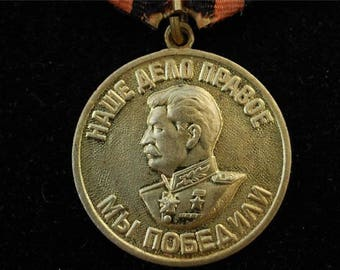 AUTHENTIC Stalin WW2 Victory Original Medal Russian Soviet Military