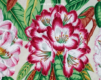 1 Yard Snow Leopard BOTANICAL RHODODENDRONS PWSL005 NATURAL Philip Jacobs Flowers Garden Floral Westminster  Quilting Sewing Fabric