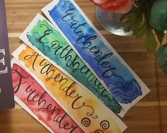 Elemental Watercolor Bookmark