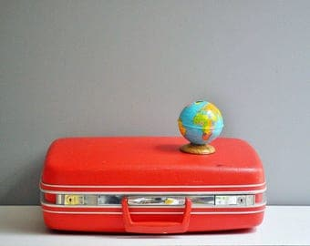 Vintage Bright Red Samsonite Suitcase