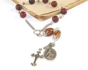 Saint Roch Chaplet Rosary, Patron Saint of Dogs, Invalids & Pilgrims