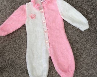 Hand Knitted Romper 0-3 months