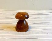 Vintage Tiny Wood Mushroom.   Handmade Myrtlewood.  Mod, pop, Mid century, Eames Panton era.  Vintage 1970