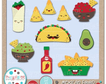 Mexican Food Cutting Files & Clip Art - Instant Download