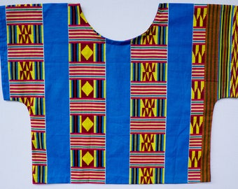 Cropped Top, African Print Cropped top, Women's Boxy Top, Loose blouse, Tribal Print Blouse