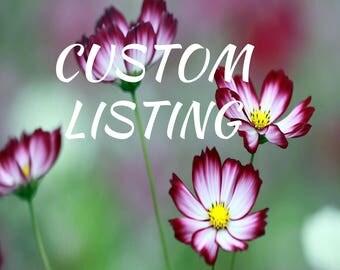 CUSTOM Listing for cwhitfill