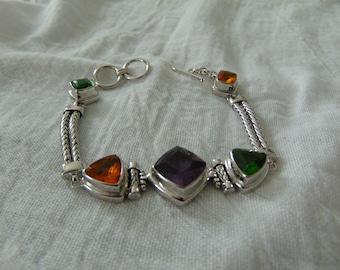 vintage claudia agudelo bracelet jewel tones czs toggle