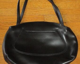 Vintage Black Leather Handbag