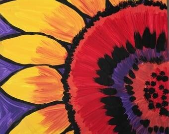 Sunflower painting original