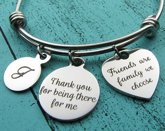 gift for best friend, friendship gift bracelet, bff jewelry, bestie gift, thank you for being there for me, friends birthday gift Christmas