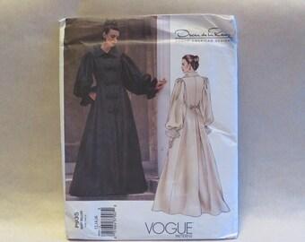 Vogue P935 Oscar De La Renta Sewing Pattern Maxi Coat Coatdress  12 14 16