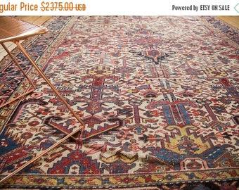 10% OFF RUGS 8.5x11 Vintage Heriz Carpet