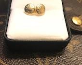 Up cycle Authentic Louis Vuitton rivet earrings